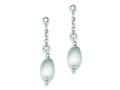 Sterling Silver Textured Hollow Bead Post Dangle Earrings