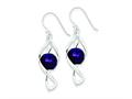 Sterling Silver Twist Dangle Amethyst Earrings