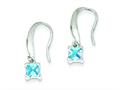 Sterling Silver Aquamarine Dangle Earrings