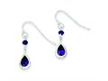 Sterling Silver Purple Cubic Zirconia  Dangle Earrings