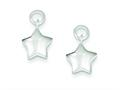 Sterling Silver Puffed Star EarringsEnhancer