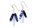Sterling Silver Amethyst Blue Lace Agate and Sodalite Earrings