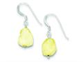 Sterling Silver Citrine Stone Earrings