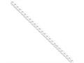Sterling Silver Flat Close Link Curb Chain