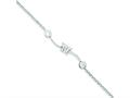 Sterling Silver Cubic Zirconia Childs Bracelet