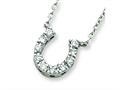 Sterling Silver Cubic Zirconia Horse Shoe Necklace