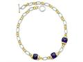 Sterling Silver Vermeil Purple Cubic Zirconia Necklace