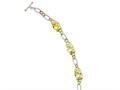 Sterling Silver Vermeil Light Yellow Cubic Zirconia Bracelet