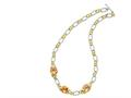 Sterling Silver Vermeil Champagne Cubic Zirconia Necklace