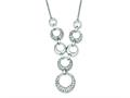 Sterling Silver Cubic Zirconia Circles Necklace