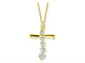 Sterling Silver Vermeil Cross Journey Necklace