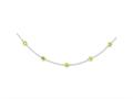 Sterling Silver Lime Cubic Zirconia Necklace