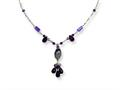 Sterling Silver Amethyst/prehnite/lavender and Green Quartz Necklace