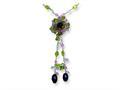 Sterling Silver Amethyst/lavender Quartz/peridot/blue Topaz Necklace