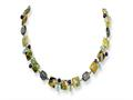 Sterling Silver Antiqued Amethyst/green Agate/jasper Necklace