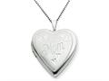 925 Sterling Silver 20mm MOM Heart Locket - Chain Included