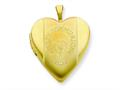 1/20 Gold Filled 20mm First Communion Heart Locket - Chain Included