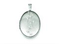 Sterling Silver Butterflies 19mm Oval Locket