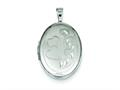 Sterling Silver Two Hearts 19mm Oval Locket