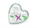 Sterling Silver Enamel Flower 4 Picture Family Heart Locket