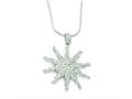 Sterling Silver and Cubic Zirconia Brilliant Embers Sun Necklace