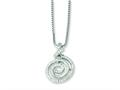 Sterling Silver and Cubic Zirconia Brilliant Embers Swirl Necklace