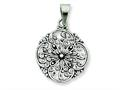 Sterling Silver Antiqued Filigree Pendant - Chain Included