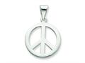 Sterling Silver Polished Small Peace Sign Pendant - Chain Included