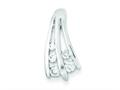 Sterling Silver Polished Cubic Zirconia Pendant - Chain Included