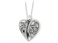 Sentimental Expressions(tm) Sterling Silver Antiqued 18 Inch Angel of Love Necklace