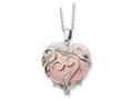 Sentimental Expressions(tm) Sterling Silver and Rose Quartz Generous Heart 18 Inch Necklace