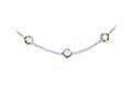 Sterling Silver 18in. Amethyst and Green Quartz Necklace