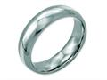 Chisel Stainless Steel Sterling Silver Inlay 6mm Polished Weeding Band