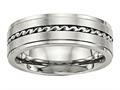 Chisel Stainless Steel Brushed And Polished Twisted 7.00mm Weeding Band
