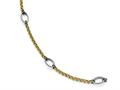 Chisel Stainless Steel Polished Yellow Ip-plated Anklet