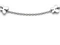 Chisel Stainless Steel Polished Butterfly Charms With 1in Extension Anklet