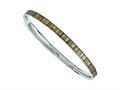 Chisel Stainless Steel Cream And Black Enameled Bangle