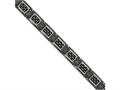 Chisel Stainless Steel Black Ip-plated W/ Black Carbon Fiber and Cz Bracelet