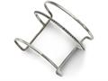 Chisel Stainless Steel Polished Beaded Cuff Bangle