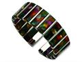 Chisel Stainless Steel and Cotton Fiber Cuff Bracelet