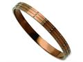Chisel Stainless Steel Polished Brown Ip Plated W/ Czs Bangle