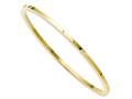 Chisel Stainless Steel Yellow Ip Plated Bangle