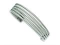 Chisel Stainless Steel Textured Cuff Bangle