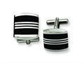 Chisel Stainless Steel Enameled Cuff Links