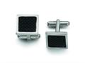 Chisel Stainless Steel Carbon Fiber Cuff Links