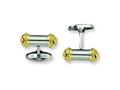 Chisel Stainless Steel 24k Gold Plating Cuff Links