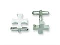 Chisel Stainless Steel Cross Cuff Links