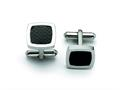 Chisel Stainless Steel Black Carbon Fiber Cuff Links