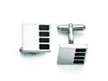 Chisel Stainless Steel Polished Enameled Cuff Links