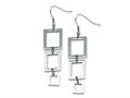 Chisel Stainless Steel Rectangle Dangle Earrings